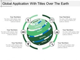Global Application With Titles Over The Earth