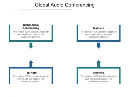 Global Audio Conferencing Ppt Powerpoint Presentation Pictures Designs Download Cpb