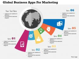 Global Business Apps For Marketing Flat Powerpoint Design