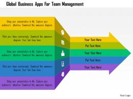 Global Business Apps For Team Management Flat Powerpoint Design