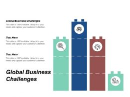 Global Business Challenges Ppt Powerpoint Presentation Gallery Design Inspiration Cpb