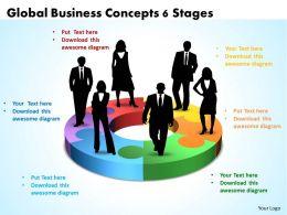 Global Business Concepts 6 Stages Powerpoint Templates ppt presentation slides 812