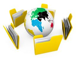 Global Business Documents Stock Photo