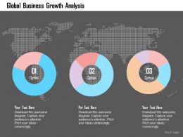 Global Business Growth Analysis Flat Powerpoint Design