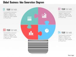 Global Business Idea Generation Diagram Flat Powerpoint Design