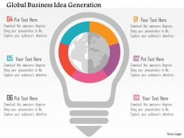 Global Business Idea Generation Flat Powerpoint Design