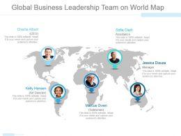 global_business_leadership_team_on_world_map_powerpoint_slide_themes_Slide01