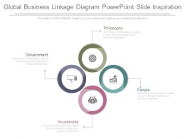 Global Business Linkage Diagram Powerpoint Slide Inspiration