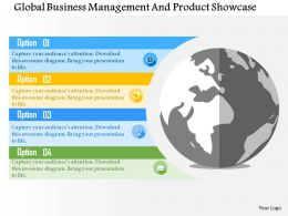 Global Business Management And Product Showcase Flat Powerpoint Design