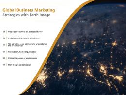 Global Business Marketing Strategies With Earth Image