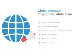 Global Business Megaphone Globe Icon