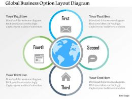Global Business Option Layout Diagram Flat Powerpoint Design