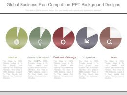 Global Business Plan Competition Ppt Background Designs