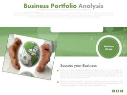 Global Business Portfolio Analysis Flat Powerpoint Design
