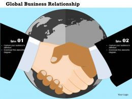 Global Business Relationship Flat Powerpoint Design