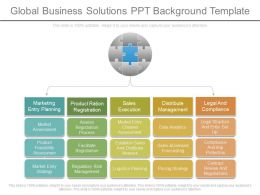 Global Business Solutions Ppt Background Template