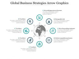 Global Business Strategies Arrow Graphics