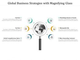 Global Business Strategies With Magnifying Glass