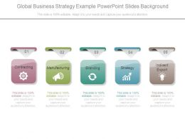 Global Business Strategy Example Powerpoint Slides Background
