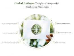 Global Business Template Image With Marketing Strategies