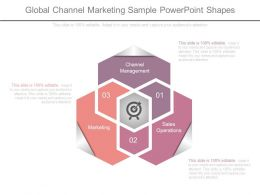 Global Channel Marketing Sample Powerpoint Shapes