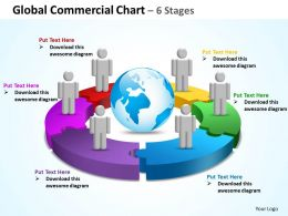 global commercial chart 6 stages powerpoint diagrams presentation slides graphics 0912
