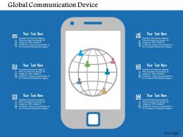 Global Communication Device Flat Powerpoint Design