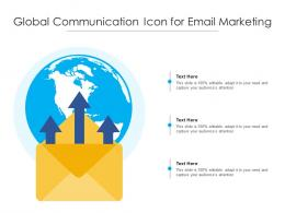Global Communication Icon For Email Marketing