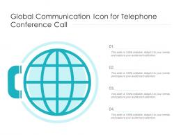 Global Communication Icon For Telephone Conference Call
