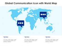 Global Communication Icon With World Map