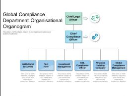 Global Compliance Department Organisational Organogram