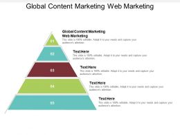 Global Content Marketing Web Marketing Ppt Powerpoint Presentation Styles Diagrams Cpb