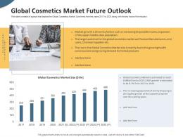 Global Cosmetics Market Future Outlook Pitch Deck To Raise Seed Money From Angel Investors Ppt Inspiration