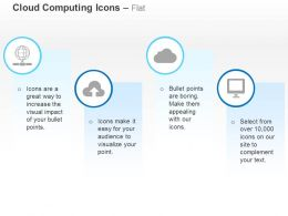 Global Data Upload Cloud Service Computer Ppt Icons Graphics