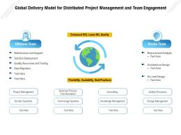 Global Delivery Model For Distributed Project Management And Team Engagement