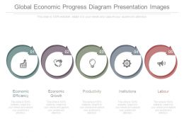 Global Economic Progress Diagram Presentation Images