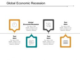 Global Economic Recession Ppt Powerpoint Presentation Inspiration Example Cpb