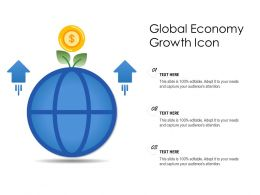 Global Economy Growth Icon