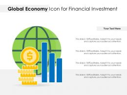 Global Economy Icon For Financial Investment
