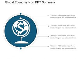 Global Economy Icon Ppt Summary