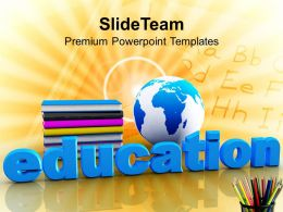 Global Education Concept With Books Future Powerpoint Templates Ppt Themes And Graphics 0113