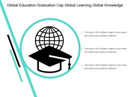 Global Education Graduation Cap Global Learning Global Knowledge