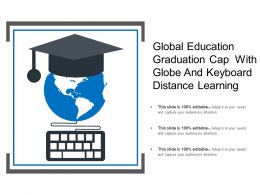 Global Education Graduation Cap With Globe And Keyboard Distance Learning