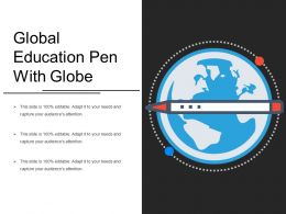 Global Education Pen With Globe