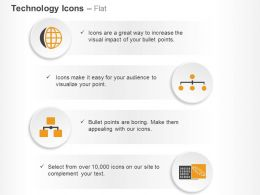 Global Electronic Technology Hierarchy Ppt Icons Graphics