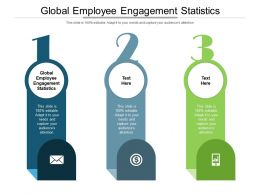 Global Employee Engagement Statistics Ppt Powerpoint Presentation Inspiration Graphics Cpb