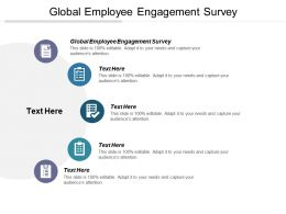 Global Employee Engagement Survey Ppt Powerpoint Presentation File Design Inspiration Cpb
