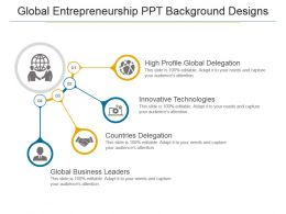 Global Entrepreneurship Ppt Background Designs