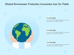 Global Environment Protection Awareness Icon For Public
