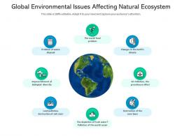Global Environmental Issues Affecting Natural Ecosystem